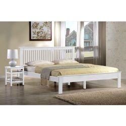 Łóżko drewniane białe 160x200 model 1204 marki Meblemwm