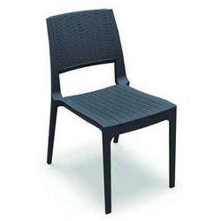 Krzesło ogrodowe na taras z polirattanu Verona Siesta antracytowe, towar z kategorii: Krzesła ogrodowe