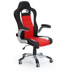 Fotel gabinetowy Halmar Lotus czarno-czerwony