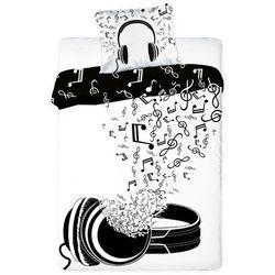 Dekoria Komplet pościeli Music, poszwa 160x200cm, poszewka 70x80cm