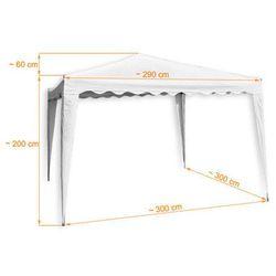 Nieprzemakalny dach 260g/m na pawilon ogrodowy typu 3x3 - beżowy marki Mks