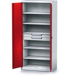 Alfa 3 Szafa warsztatowa mechanic, 1950 x 920 x 500 mm, 5 półki, 2 szuflady, czerwone drzwi