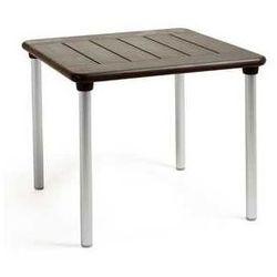 Ogrodowy stół kwadratowy  maestrale 90 czekoladowy marki Nardi