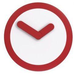 :: zegar ścienny focus czerwony Ø25cm - czerwony ||biały marki Nextime