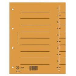 Przekładki DONAU oddz. A4 op.100 - pomarańczowe
