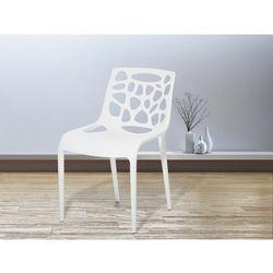 Krzesło ogrodowe - plastikowe białe - krzesło z tworzywa sztucznego - MORGAN, kup u jednego z partnerów