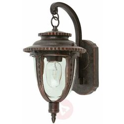Zewnętrzna lampa ścienna st. louis stl2/m wb ogrodowa oprawa kinkiet latarenka ip44 wyblakły brąz przezroczysta marki Elstead