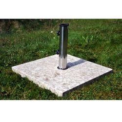 Podstawa z marmuru i stali nierdzewnej kwadratowa pod parasol 25 kg