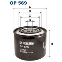 Filtr oleju op 569 od producenta Filtron