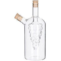 Atmosphera créateur d'intérieur Karafka na oliwę i ocet ze szkła, dozownik do oliwy i octu 2 w 1, butelka na oliwę, pojemniki na przyprawy, ozdobna butelka na ocet
