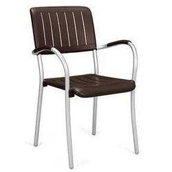 Klasyczne krzesło ogrodowe do restauracji Nardi Musa brązowe, kup u jednego z partnerów