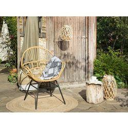 Beliani Krzesło rattanowe jasnobrązowe bresso (4251682216166)