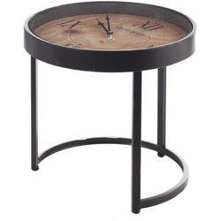 Dekoria stolik pomocniczy industrial clock śr.43cm, 43 × 43 × 43 cm