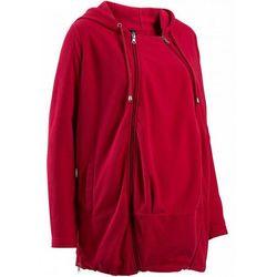 Bluza z polaru ciążowa, z wstawką niemowlęcą bonprix ciemnoczerwony - sprawdź w wybranym sklepie