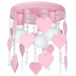 Milagro Plafon lampa oprawa sufitowa corazon 3x60w e27 jasny róż 1149