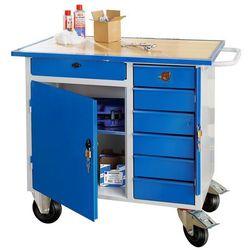 Mobilny stół warsztatowy FLEX, szafka, 7 szuflad, 990x595x900 mm, 21064