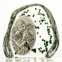 Skałka przycisk z Aniołkami na Chrzest (2567) (5900341025678)