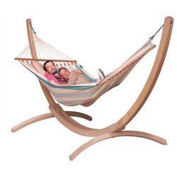 La siesta Zestaw hamakowy: hamak colada ze stojakiem canoa, błękitny cor14cns161