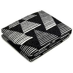 Oulaiya Narzuta + poszewki 40x40 czarny + biały 007 220x240