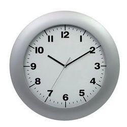 Zegar ścienny srebrny saturn marki Atrix