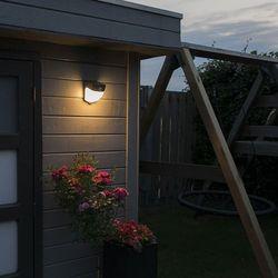 Lampa zewnętrzna led scout ciemnoszara na energię słoneczną marki Qazqa