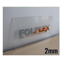Folplex Druk uv na plexi bezbarwnej 2mm z materiałem