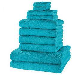 """Komplet ręczników """"New Uni"""" (10 części) bonprix niebieskozielony morski"""