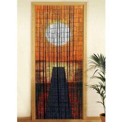 Wenko Zasłona bambusowa zachód słońca, 90x200 cm,