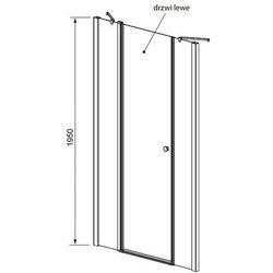 Radaway  eos ii dwjs drzwi wnękowe ze ściankami bocznymi 130 cm 3799455-01l lewe