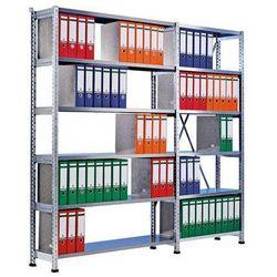 Regał wtykowy na segregatory i archiwum, ocynkowany,wys. 2280 mm, jednostronne