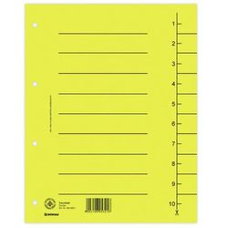 Przekładki , karton, a4, 235x300mm, 1-10, 10 kart, żółte marki Donau