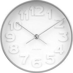 Zegar ścienny Stout chrom, KA5692CH