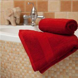 ręcznik evora czerwony, 70x140 cm marki Dekoria