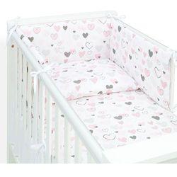 3-el pościel dla niemowląt do łóżeczka 70x140 - pastelowe serduszka marki Mamo-tato