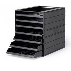 """Pojemnik z szufladami Durable Idealbox Basic 7 """"Blue Angel"""" 1712002058 antracyto (4005546108278)"""