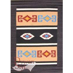 Łazienkowy azteki czarny 060x090 prostokąt marki Dywanstyl.pl