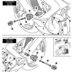 Crash pady PUIG do Kawasaki ZX6R 636 (czarne)