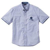 Koszula z krótkim rękawem Regular Fit bonprix jasnoniebieski w paski