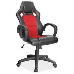Fotel Obrotowy Q-103 Czarny Czerwony