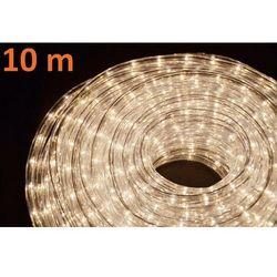 Wąż świetlny ogrodowy 10 m ciepły biały - 360 mini żarówek