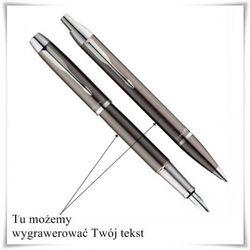 Zestaw pióro i długopis Parker IM Gun Metal CT z opcją Twojego graweru z kategorii Na imieniny dla męża