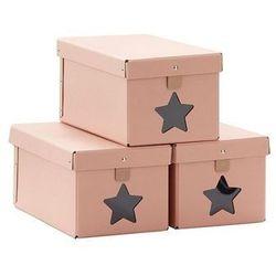 Pudełka na Buty 3 szt Pink Kids Concept