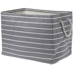 Koszyk do przechowywania, kosz na pranie, pojemnik na zabawki, 43x30x32 cm, odcienie szarości marki Home styling collection
