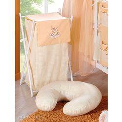 MAMO-TATO Kosz na bieliznę Śpioch na chmurce brzoskwiniowy