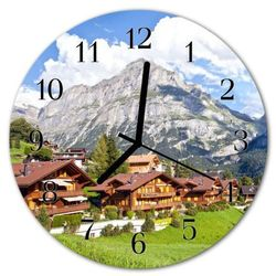 Zegar ścienny okrągły Góry