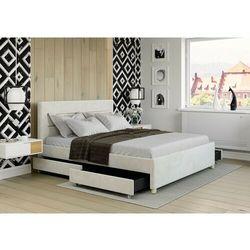 Łóżko 180x200 z 4 szufladami - monza welur beżowe marki Zona meble