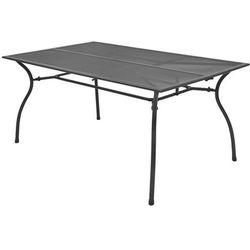 vidaXL Ogrodowy stół jadalniany, metalowa siatka, 150x90x72 cm (8718475503286)