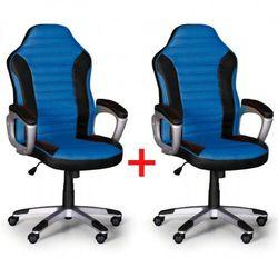 B2b partner Fotel biurowy sport 1+1 gratis, czarno-niebieski
