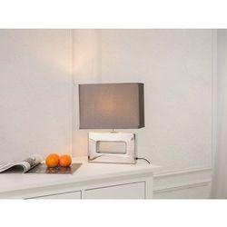 Beliani Nowoczesna lampka nocna - lampa stojąca w kolorze srebrnym - onyx