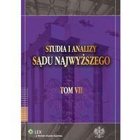 Studia i Analizy Sądu Najwyższego. TOM VII [PRZEDSPRZEDAŻ], książka w oprawie miękkej